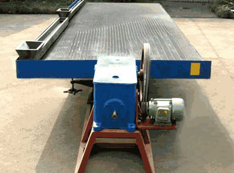 Principle Of Shaking Table For Beneficiation Plant